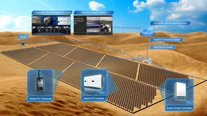 The First Large-scale Ground-mounted PV Plant in Saudi Arabia with Huawei 1500V Smart PV Solution