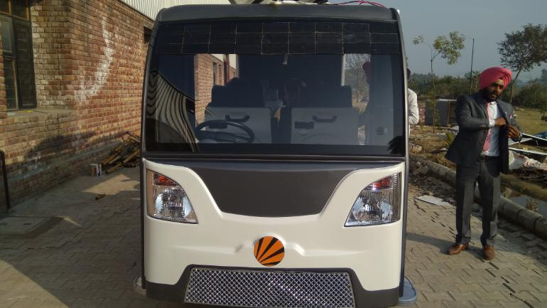 Jalandhar students develop a driverless, solar-powered smart bus priced at Rs 6 lakh