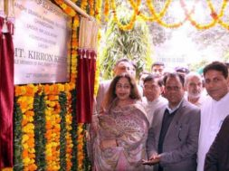 Chandigarh- Kirron Kher lays foundation of 10kWp solar project