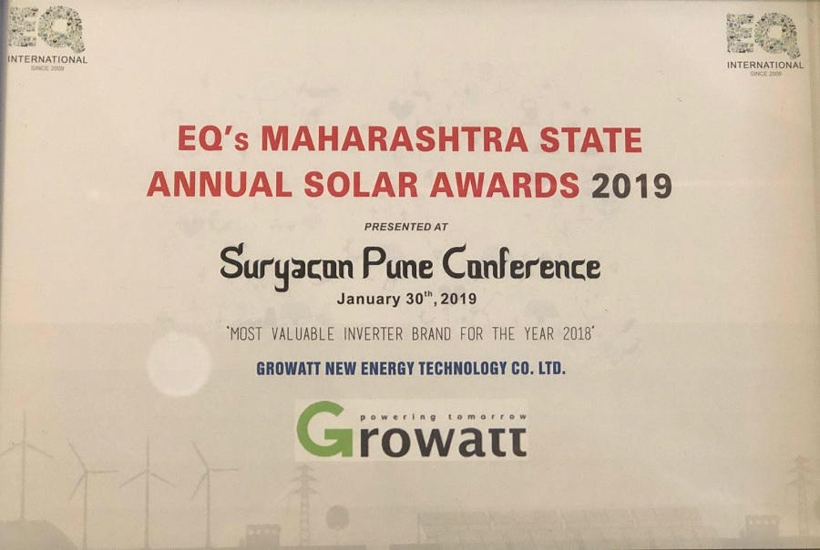 Featured – Growatt Receives 'Most Valuable Inverter Brand' in India
