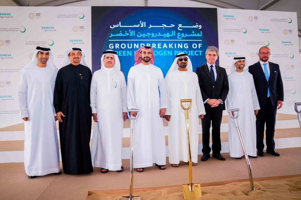 HH Sheikh Ahmed breaks ground on green hydrogen facility in Dubai