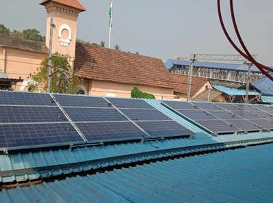 Installation of solar power plant commence at Kozhikode railway station