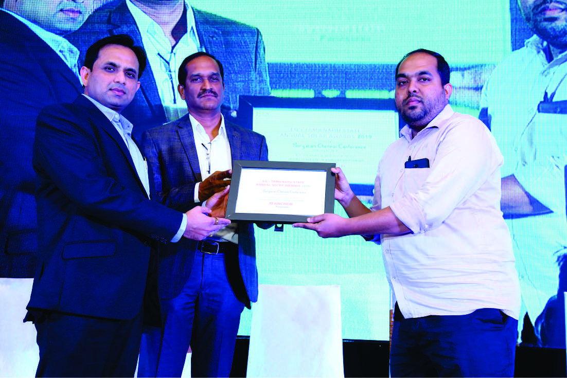 Anchor by Panasonic wins 'Best Performance in Solar Rooftop Projects' Award in Tamil Nadu