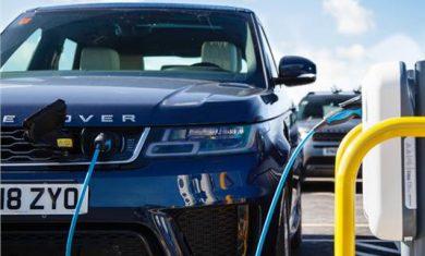 Jaguar Land Rover installs 166 smart charging stations for EVs at Gaydon facility