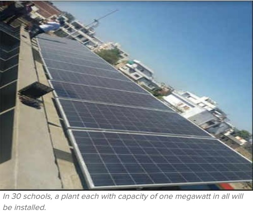 Rooftop solar plants at corpn schools to save 4k MW daily