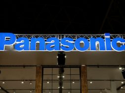 FILE PHOTO:  A logo of Panasonic Corp is pictured at the CEATEC JAPAN 2017 in Chiba