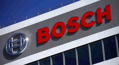 A BOSCH building is pictured at the company's new research and advance development centre Campus Renningen during a guided media tour in Renningen, file