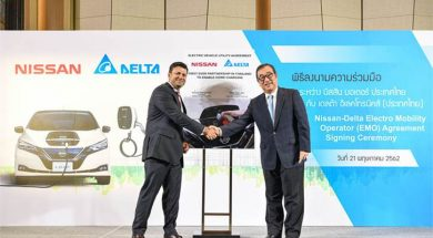 Nissan appoints Delta Electronics as EV charging systems provider in Thailand