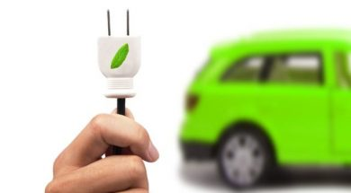 9335194 – electric car and green car concept