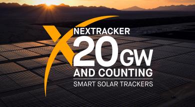 NEXTracker Achieves Industry-First 20 Gigawatts Solar Tracker Milestone
