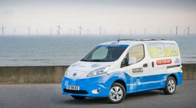 Nissan's zero-emission ice cream truck uses recycled EV batteries