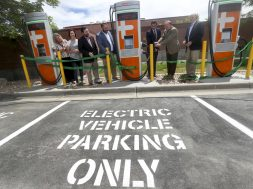 Photos- Sandy opens 45 electric vehicle charging stations at city facilities
