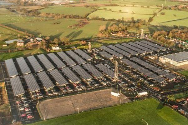 UK's Largest Solar Carport Commissioned At Bentley Motors