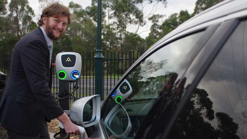 Victoria first: School trials solar-powered electric car charger