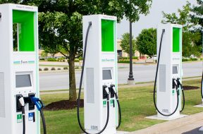 Walmart's EV Stations Let You Plug In While You Shop