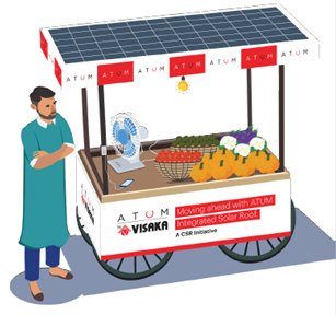 Visaka Industries Displays Benefits of its Product ATUM, donates 18 Pushcarts worth more than 7Lac