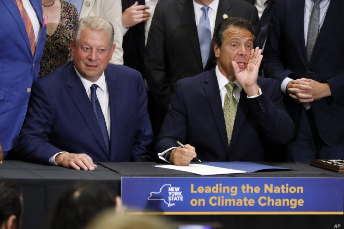 New York Governor Signs Ambitious Climate Change Bill with Goal of Slashing Greenhouse Gas Emissions by 2030