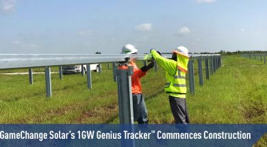 GameChange Solar's 1GW Genius Tracker™ Commences Construction
