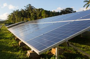 Large solar power installation in tropics