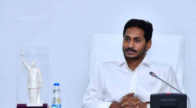 Hyderabad: Andhra Pradesh Chief Minister Y. S. Jagan Mohan Reddy addresses at the State Cabinet sub-committee meeting in Hyderabad, on June 30, 2019. (Photo: IANS)