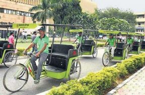 Solar-Powered Rickshaws Introduced In IIT-Delhi Campus As Part Of State-Run CEL's CSR Initiative