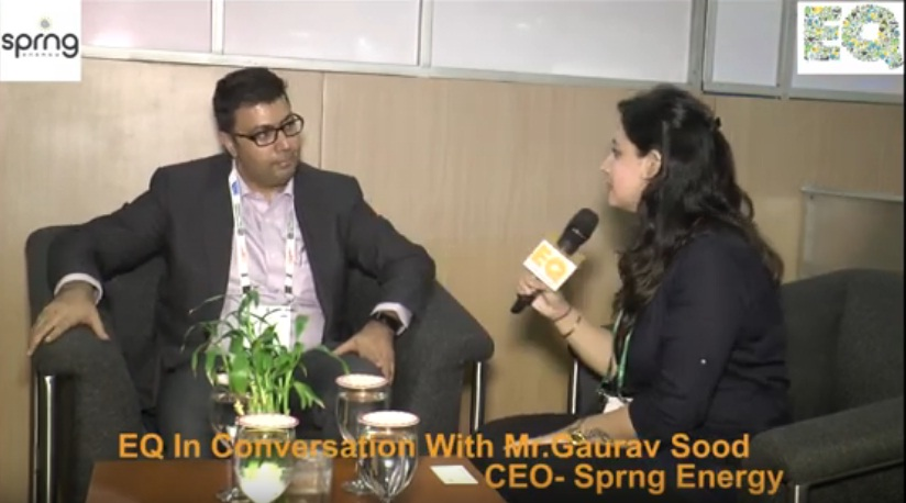 EQ in conversation with Mr. Gaurav Sood, CEO- Sprng Energy