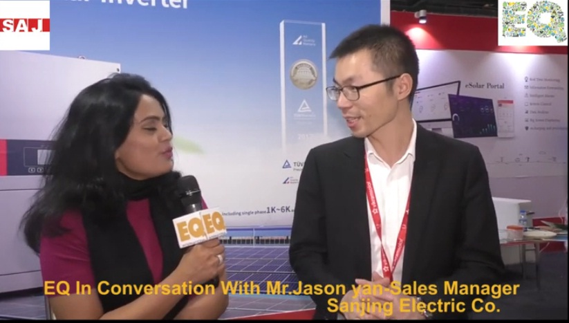 EQ in conversation with Mr. Jason Yan- Sales Manager Sanjing Electric Co. SAJ