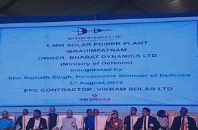 Vikram Solar commissions 5 MW solar project for Bharat Dynamics Limited