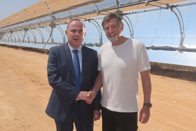 Israeli Minister of Energy Dr. Yuval Steinitz Joins Shikun & Binui Group's Naty Saidoff to Open Ashalim Solar Thermal Power Station