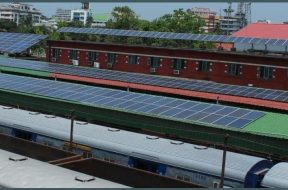 Railway stations to be fix with solar panels to generate revenue