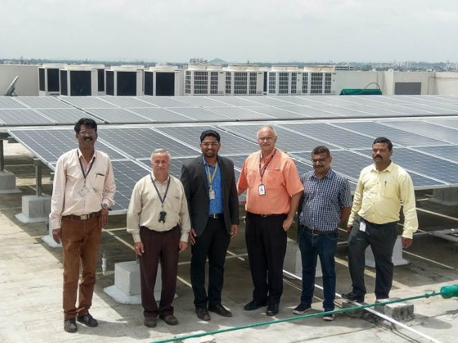 206 kWp World-class Solar Power Plant installed at Persistent Systems Limited