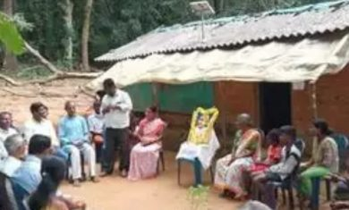 Koraga colony gets solar power on Gandhi Jayanti