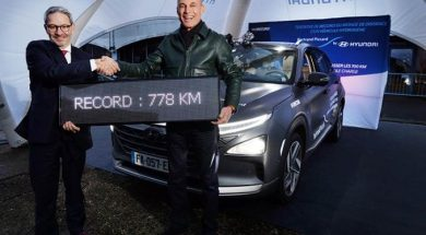 Hyundai Nexo sets world record for longest distance in hydrogen-powered vehicle