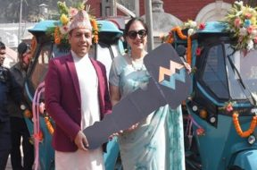Indian government gifted two electric vehicles to Pashupathi Temple Trust