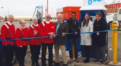 New electric vehicle charging station up and running in Vulcan