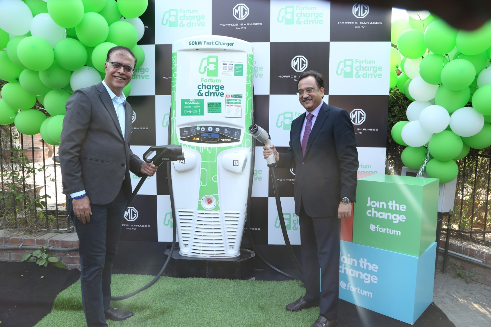 MG Motor India and Fortum announce installation of the first public 50 kW DC fast charging station in Gurugram