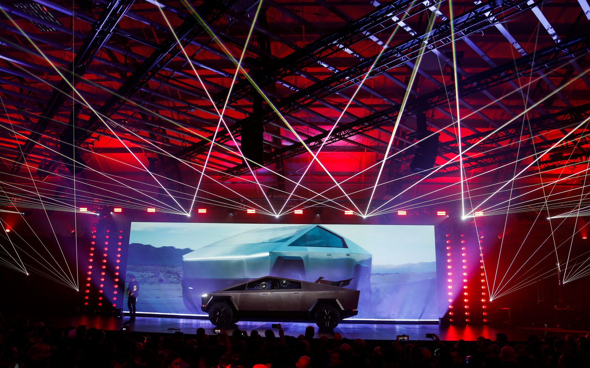 Tesla Unveiled Its Electric Pickup Truck. It's Pointy.