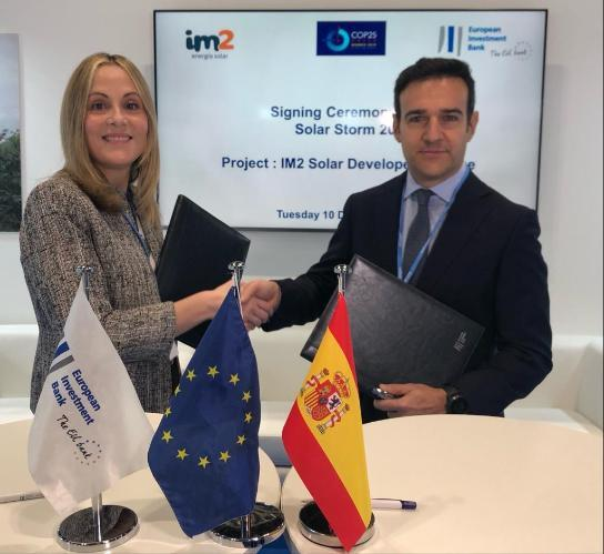 Spain: COP25 – Support for renewable energy EIB and IM2 Energía Solar join forces to create platform for building and operating photovoltaic power plants