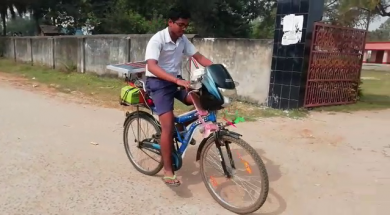 Class IX student builds e-bike from spare parts in Keonjhar