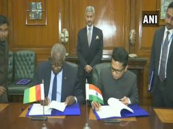 India signs LOCs in water supply, solar projects with Guinea