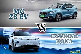 MG ZS EV vs Hyundai Kona EV