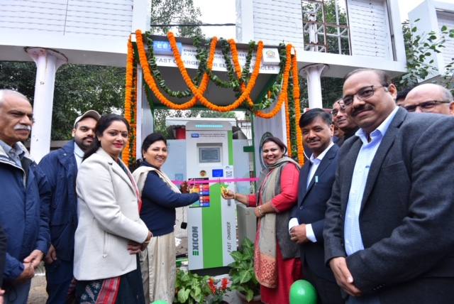 First electric vehicle public charging station by EESL inaugurated in SDMC area on National Energy Conservation Day