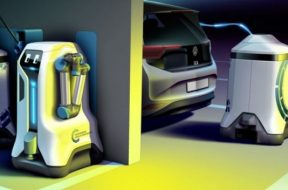 Volkswagen Dreams Up Robot That Brings Charger to Your Parked EV