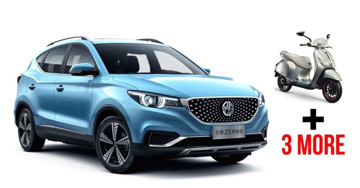 5 Electric Vehicles Launched In Jan 2020 In India – Bajaj Chetak To MG ZS EV