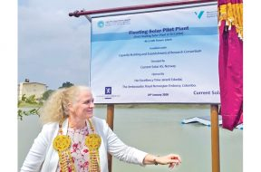 Norwegian Ambassador opens Sri Lanka's first floating solar plant