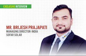 EQ in exclusive conversation with Mr. Brijesh Prajapati – MD(India) at Sofar Solar