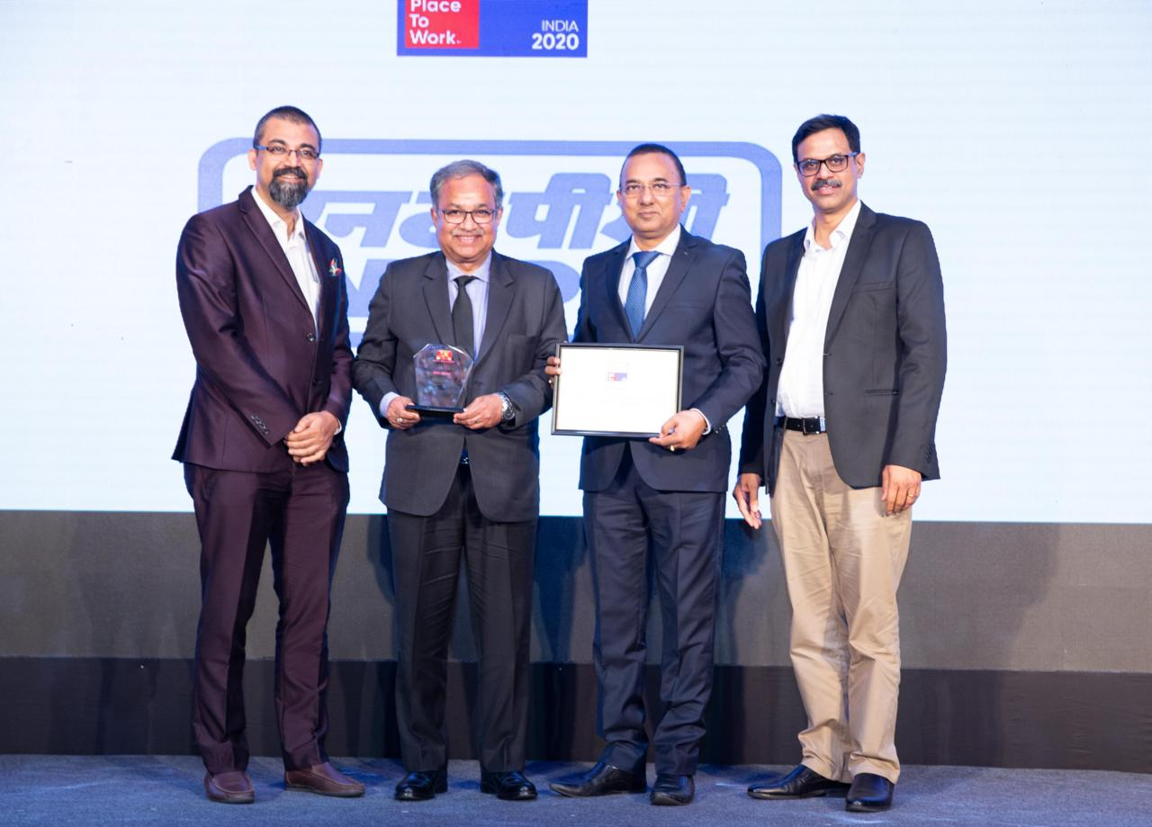 NTPC awarded as India's Best Workplaces in Manufacturing 2020