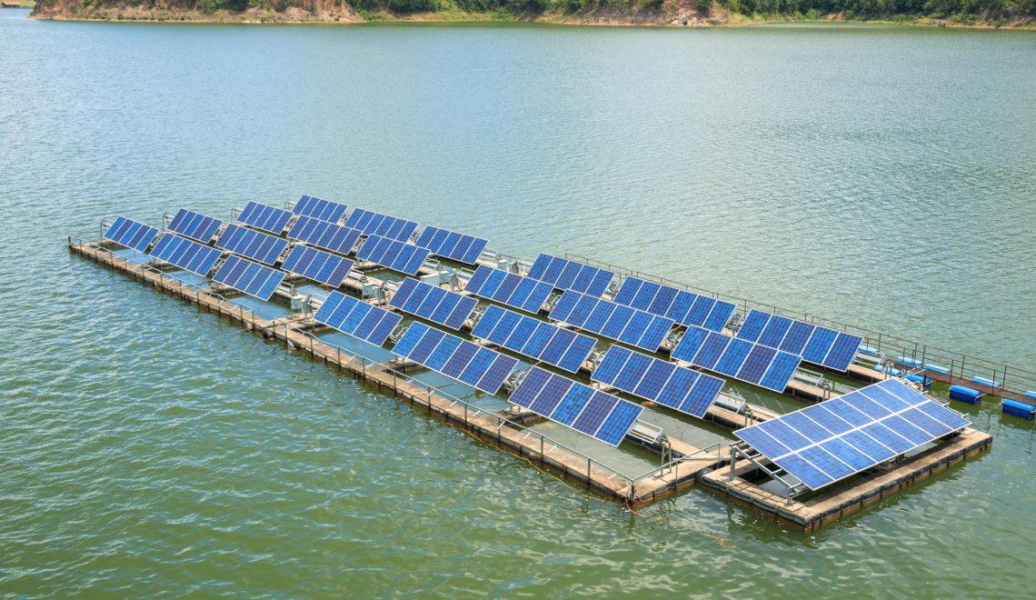 Augmenting solar power generation through floating solar plants