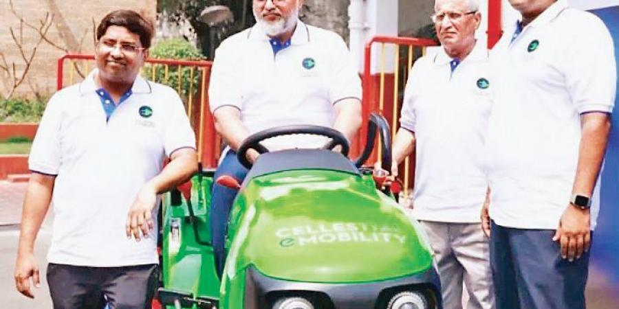 Cellestial E-Mobility unveils new e-tractor equipped with swappable batteries