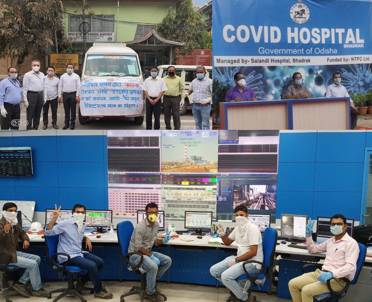 NTPC combats COVID-19 with multiple initiatives and provides uninterrupted power supply